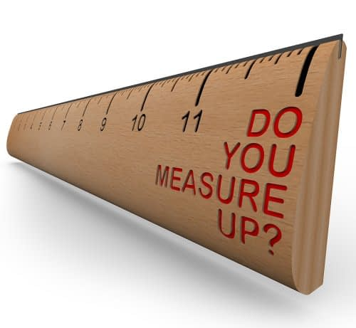 Ruler with do you measure up written on