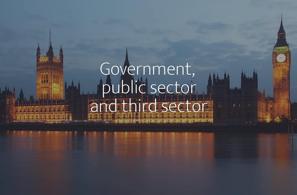 Government, public sector and third sector