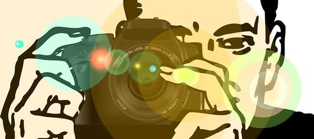 image of person taking a snapshot