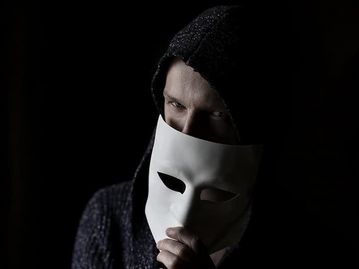 CV fraud - image of candidate with a mask